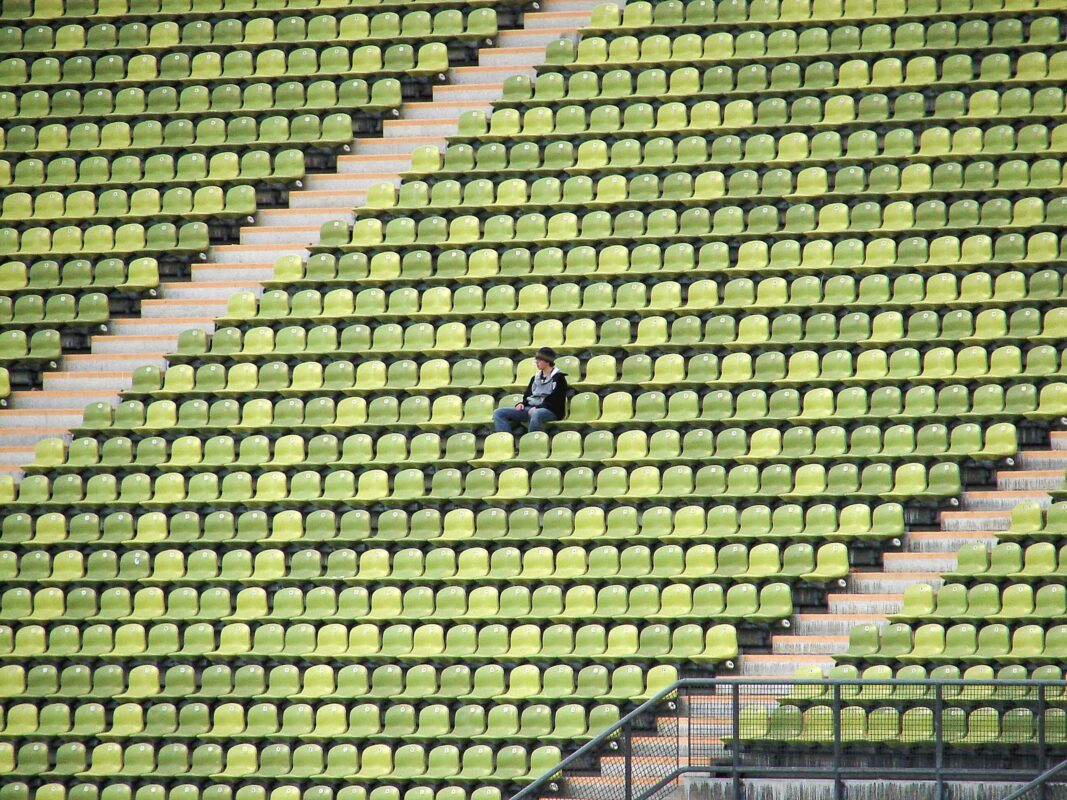Lonely - no baseball fans